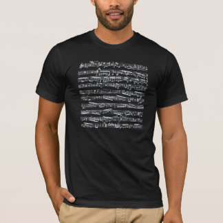 Black and white music notes T-Shirt
