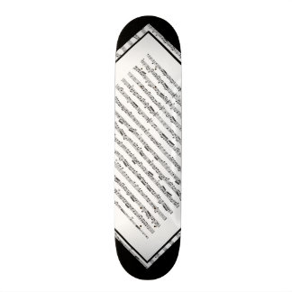 Black and White Music Pattern Customizable Deck 1 Custom Skateboard