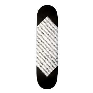 Black and White Music Pattern Customizable Deck 3 Skateboard Decks