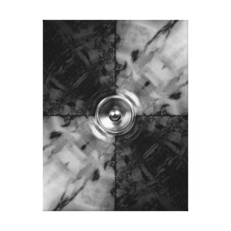 Black and white music speaker canvas print