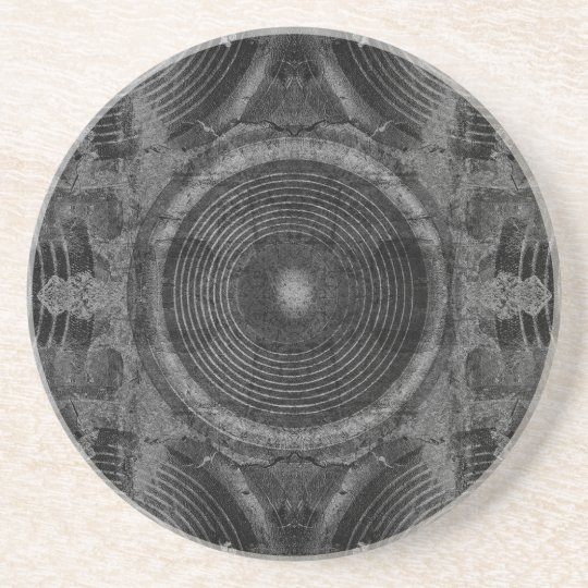 Black and white music speakers coaster
