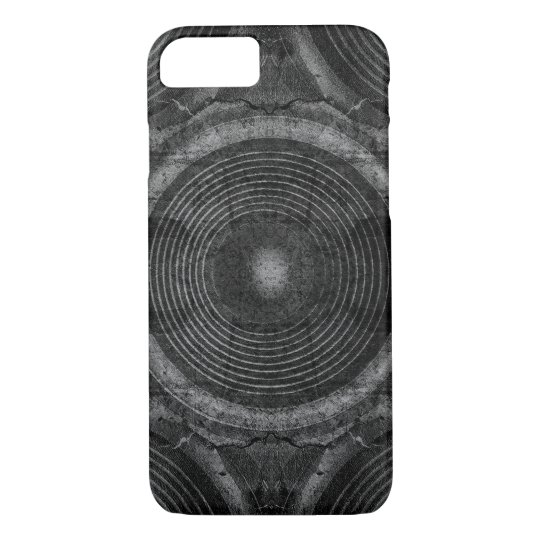 Black and white music speakers iPhone 8/7 case
