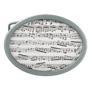 Black and white musical notes belt buckles