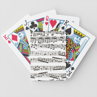 Black and white musical notes bicycle playing cards