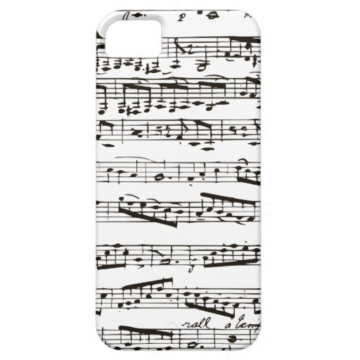 Black and white musical notes iPhone 5 covers