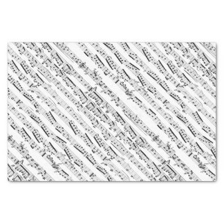 Black and white musical notes diagonal sheet music