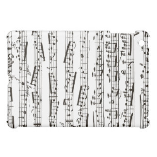 Black and white musical notes iPad mini cover