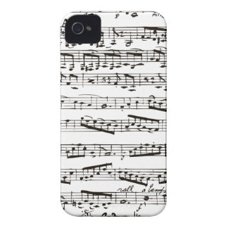Black and white musical notes iPhone 4 Case-Mate case
