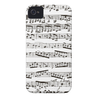 Black and white musical notes iPhone 4 cover