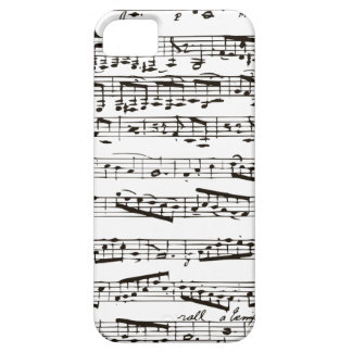Black and white musical notes iPhone 5 cases