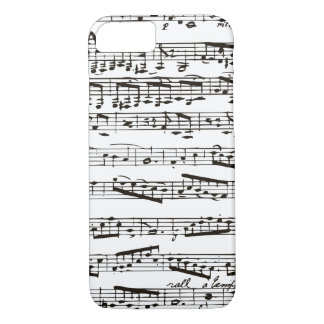 Black and white musical notes iPhone 8/7 case