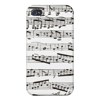 Black and white musical notes iPhone 4/4S covers