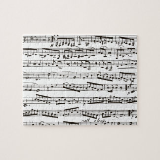 Black and white musical notes jigsaw puzzle