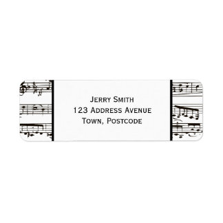 Black and white musical notes (Large text)