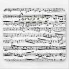 Black and white musical notes mouse mat