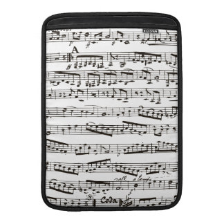 Black and white musical notes sleeve for MacBook air