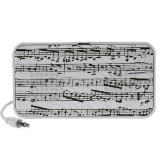 Black and white musical notes mp3 speakers
