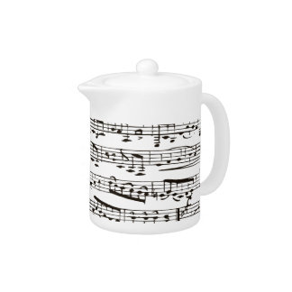 Black and white musical notes