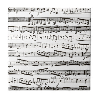 Black and white musical notes tile