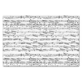 Black and white musical notes tissue paper