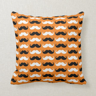 Black and White Mustache Cushion