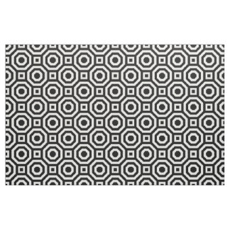 Black and White Nested Octagon Fabric