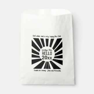 Black and White New Year Party Favour Bags