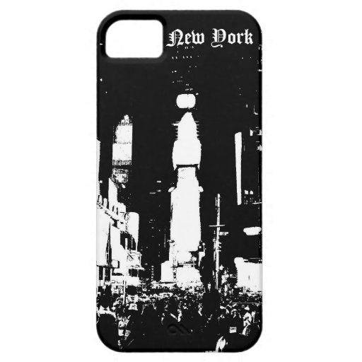 black and white New York iPhone 5 Cover