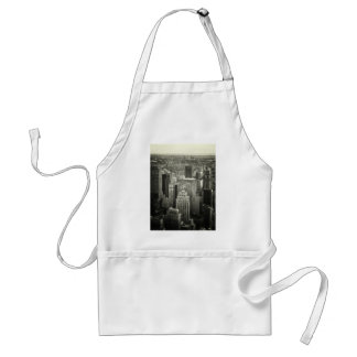 Black and White New York City Skyline Standard Apron