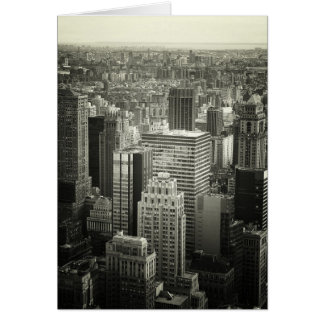 Black and White New York City Skyline Card