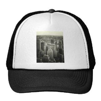Black and White New York City Skyline Trucker Hat
