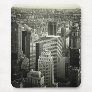 Black and White New York City Skyline Mouse Mat