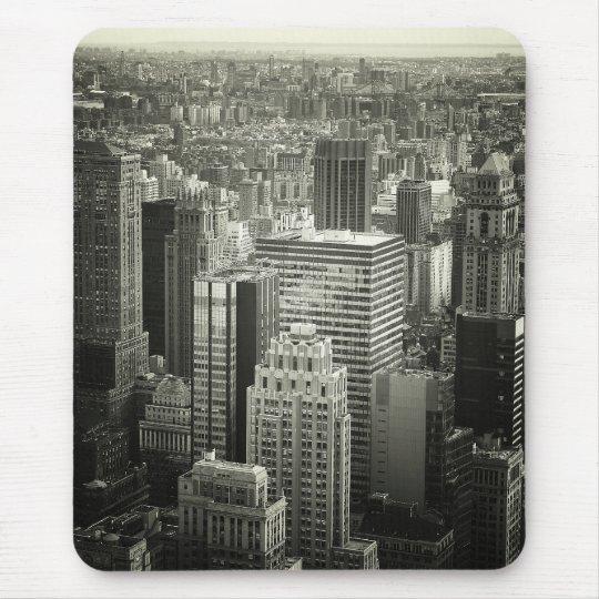 Black and White New York City Skyline Mouse Mat