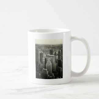 Black and White New York City Skyline Classic White Coffee Mug
