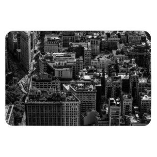 Black and White New York City Skyline Photo Flexible Magnets