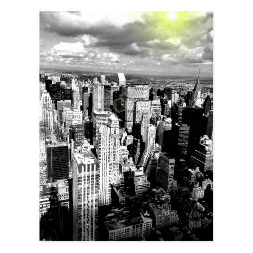 Black and White New York City Skyline Postcard