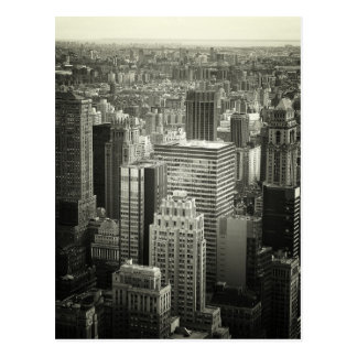 Black and White New York City Skyline Postcard