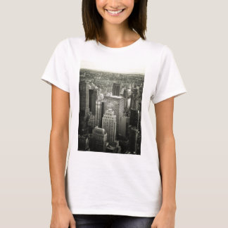 Black and White New York City Skyline T-Shirt