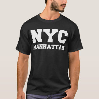 Black and White New York Manhattan T-Shirt