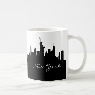 Black and White New York Skyline Coffee Mug