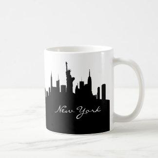 Black and White New York Skyline Coffee Mug