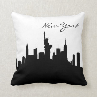 Black and White New York Skyline Cushion