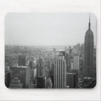 Black and White NYC Skyline Cityscape Mouse Pad