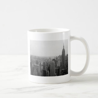 Black and White NYC Skyline Cityscape Classic White Coffee Mug