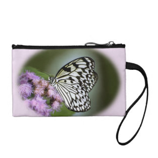 Black and White Nymph Butterfly Coin Purses