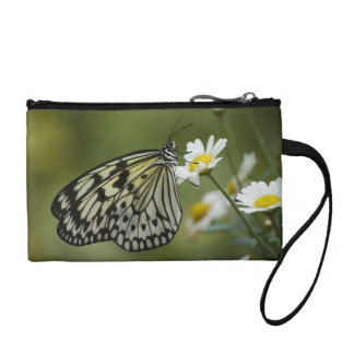 Black and White Nymph Butterfly Coin Wallet