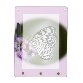 Black and White Nymph Butterfly Dry Erase Board
