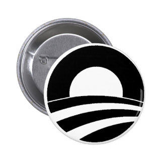 black and white obama logo 6 cm round badge