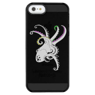 Black and White Octopus Bright Colorful Tentacles iPhone 6 Plus Case