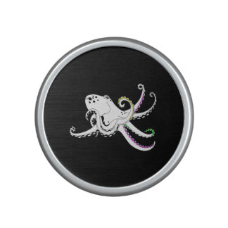 Black and White Octopus Cool Colorful Tentacles Speaker